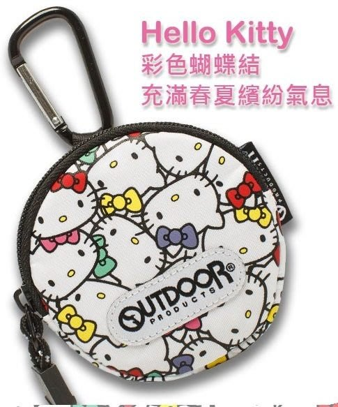 GIFT41 4165本通 三重店 OUTDOOR-Hello Kitty聯名款-零錢包 ODKS130242WT