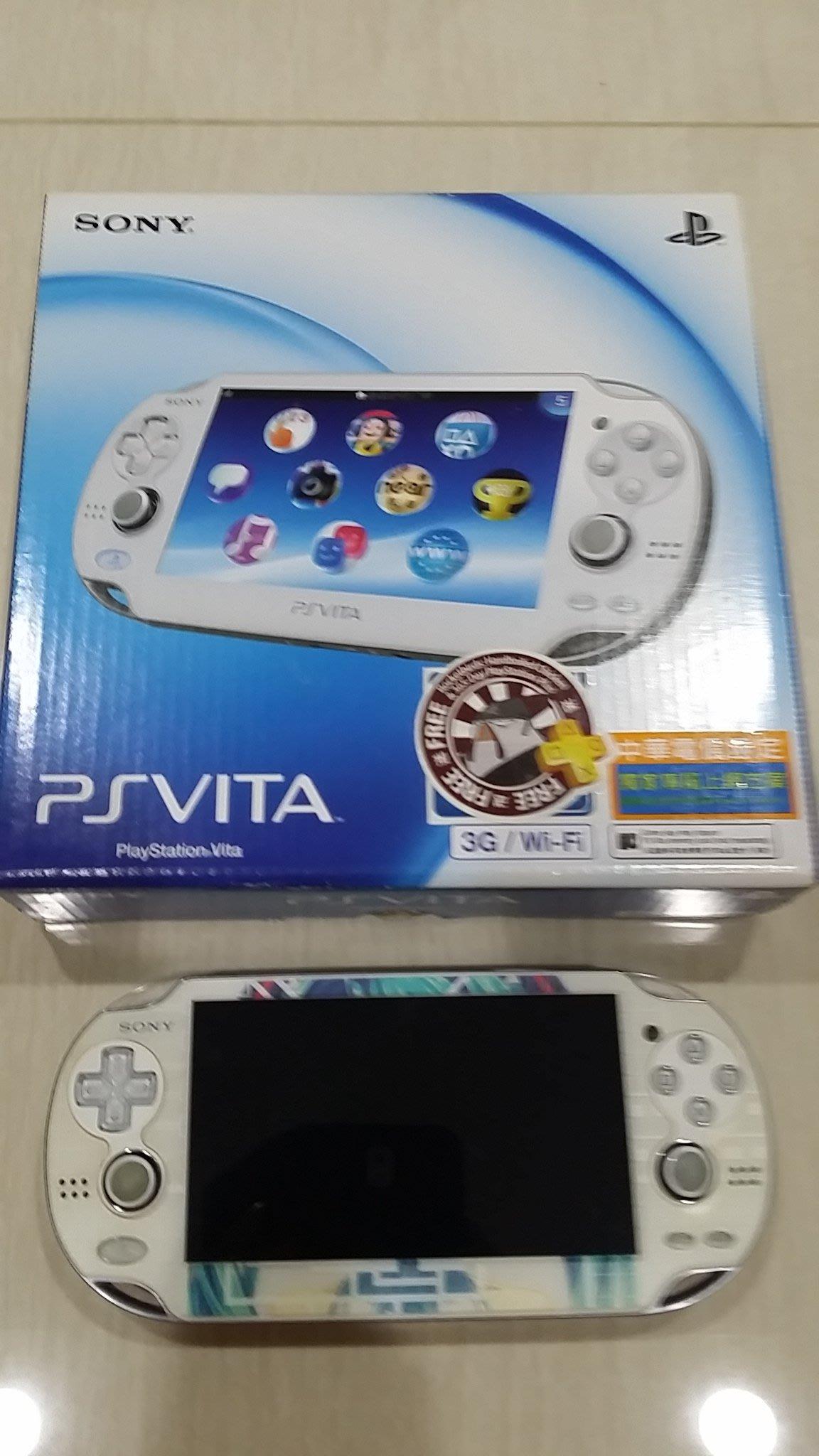 8成7新 PSV 1007型 晶瑩白色主機 3G版 版本3.52 3.60可參考 直購價4500