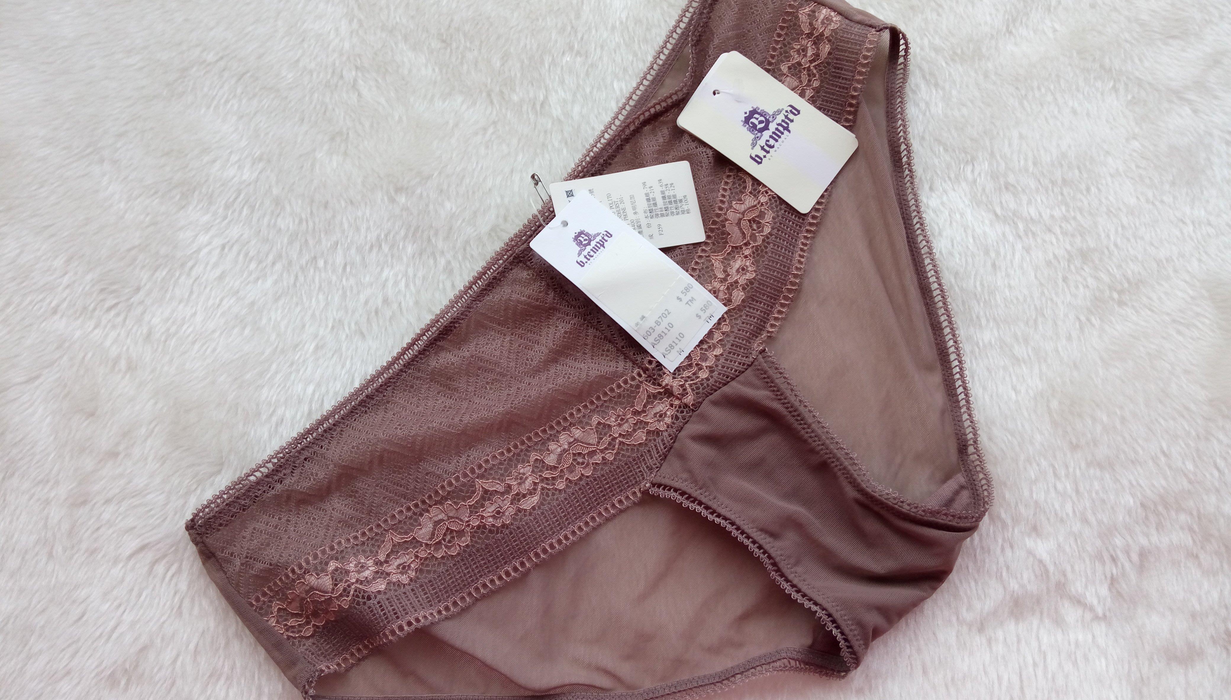 *JOLINNA~SHOP*91820E0華歌爾B.TEMPD~透氣輕透蕾絲~水漾褐色小褲~XL號~直購250元~