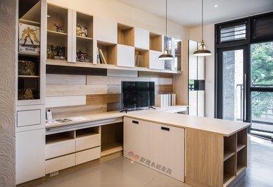 【歐雅系統家具】書房移動式書桌 系統書櫃 系統櫃 客製化訂做 系統櫃工廠