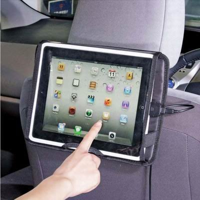 【車載平板電腦ipad專用汽車椅背支架-29*21.5cm-1套/組】車用托盤車用防護收納袋-527005
