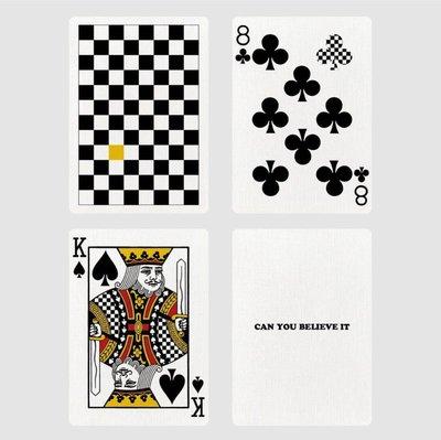 [Fun magic] 黃色棋盤撲克牌 Yellow Checkerboard anyone撲克牌 黃棋盤撲克牌