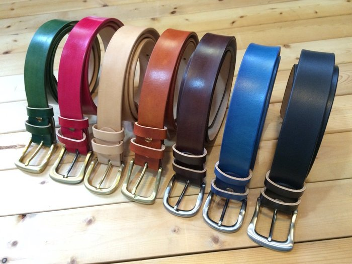 (I LOVE樂多)LOTTO義大利植鞣牛皮手工打造皮帶 共有7色供您搭配選擇Biker Hot Rod