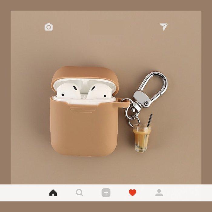 ins風韓 國萌物 蘋果 airpods2代 保護套 airpods 無線耳機防丟矽膠殼 防摔抗震 保護套