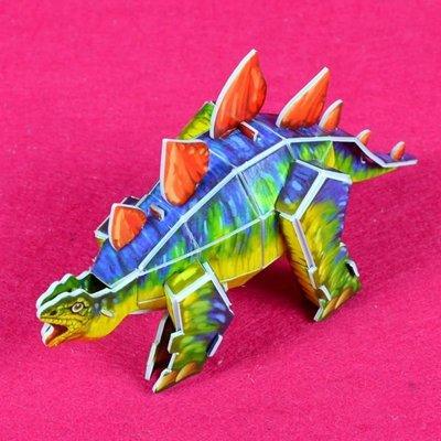 佳廷家庭 親子DIY紙模型3D立體拼圖贈品獎勵品專賣店 昆蟲館動物園 袋裝恐龍4劍龍 Calebou卡樂保