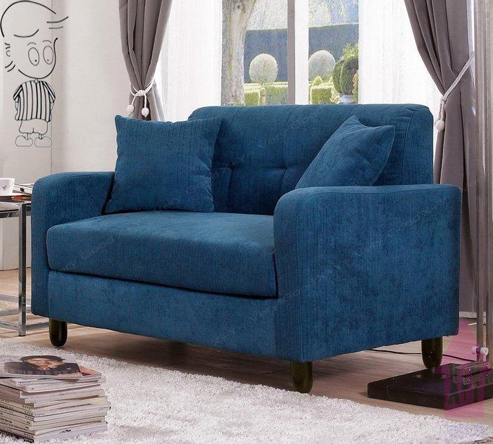 【X+Y時尚精品傢俱】現代沙發系列-艾亞洛 2人沙發椅(藍色).情人椅.絨布.實木腳.摩登家具