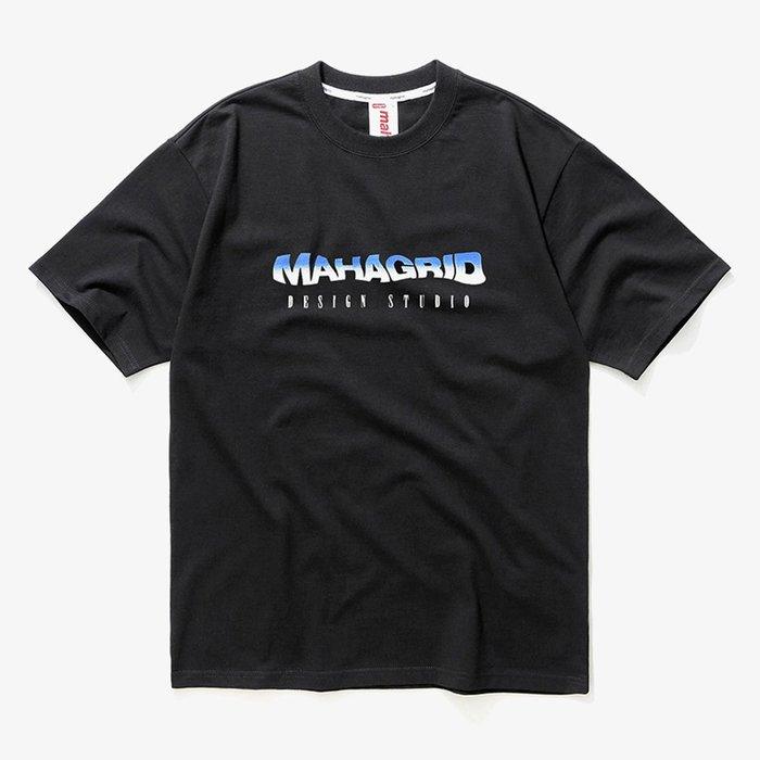 【QUEST】現貨 MAHAGRID MGD - WAVY TEE - 韓國 波浪TEE  / 黑