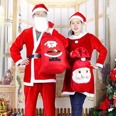 廠家批發一件代發聖誕節服裝聖誕老人服飾成人兒童演出服金絲絨衣-(340)