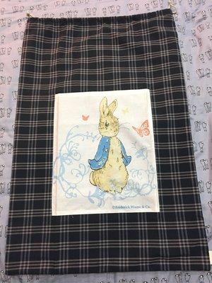 。☆全新☆。彼得兔收納袋大束口袋//涼被收納防塵//枕頭套//47cm*70cm