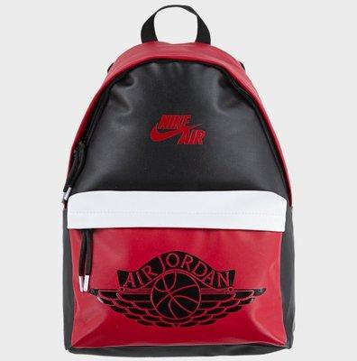 Jordan AJ1 Backpack 黑紅  飛人翅膀 後包背