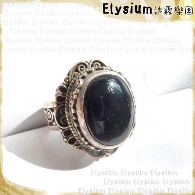 Elysium‧迷霧樂園 〈RAG014A〉尼泊爾‧國際戒圍13.5_華麗大顆 黑瑪瑙 925銀手工戒指