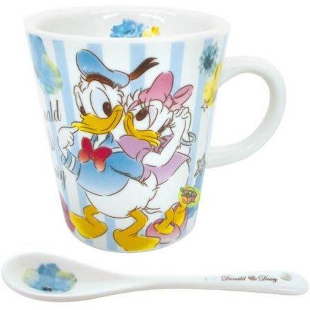 【JPGO日本購】日本進口 迪士尼Disney 附匙馬克杯~唐老鴨黛希#982
