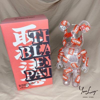 【Luxury】Bearbrick BERBRICK 400% BLACK EYE PATCH 取扱注意 現貨