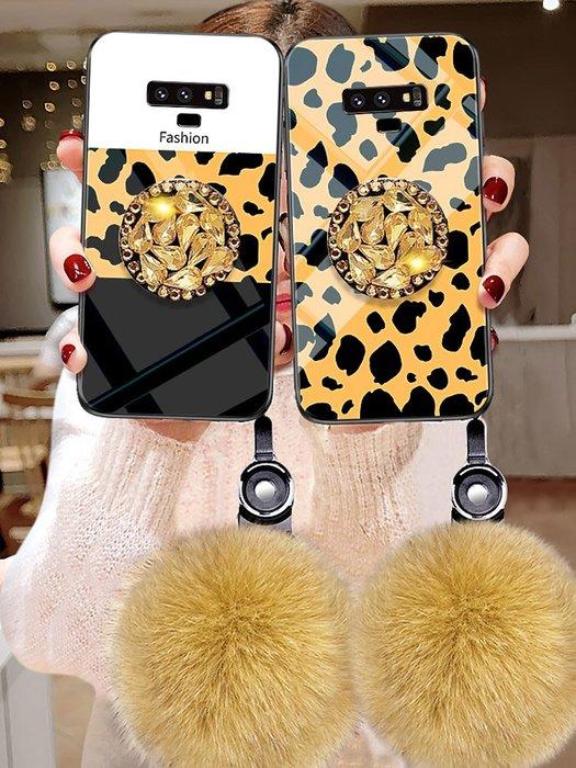 三星note9手機殼Samsung女sm-n9608網紅n9600高檔sm一豹紋noto9水鉆nete9奢華n0te毛絨