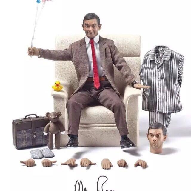 James room#正版12寸ZCWO 1:6 豆豆先生憨豆先生Mr.Bean 普通版 單素體雙頭雕 可動人偶