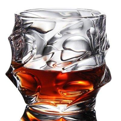 無鉛水晶玻璃大號威士忌酒杯四方杯水杯烈酒啤酒杯洋酒杯酒具yi   全館免運