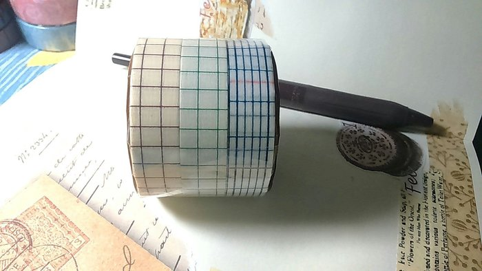 【R的雜貨舖】紙膠帶分裝 倉敷意匠和紙膠帶-方眼三色組 復刻 復古 12mm