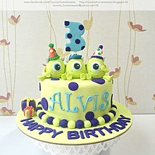 【Connie's Home Sweets】單眼仔主題蛋糕 生日蛋糕 百日宴蛋糕 100 days cake birthday cake Monster