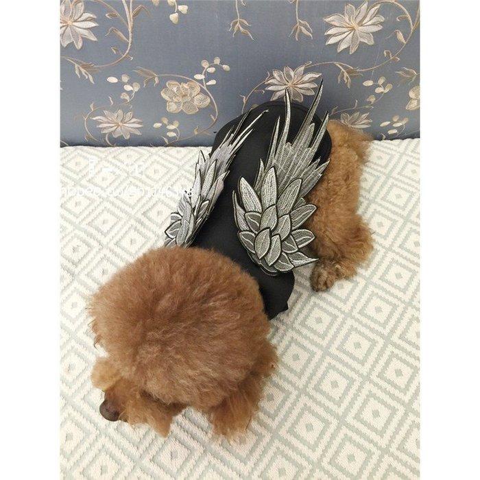 新款 寵物 太空棉 明星 翅膀 狗衣服 貓衣服 寵物服飾 立體 精緻 刺繡 翅膀 拍照