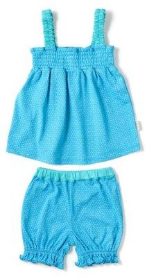 日本DADWAY Apparel女童二件式(土耳其藍) 90cm clearance sale