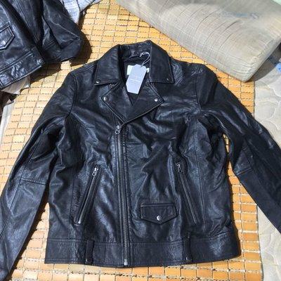 Topman 真皮 羊皮 皮衣 機車外套 重機 騎士 復古 全新含牌 size m 英國 品牌