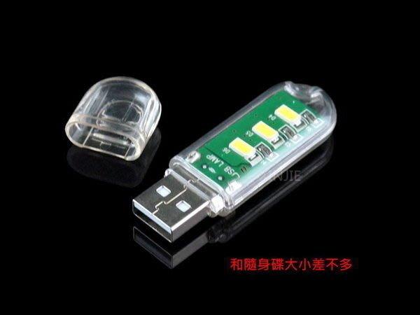 《宇捷》【B32】迷你 USB燈 隨身碟造型 電腦燈 小夜燈 行動電源 夜釣 露營 禮贈品