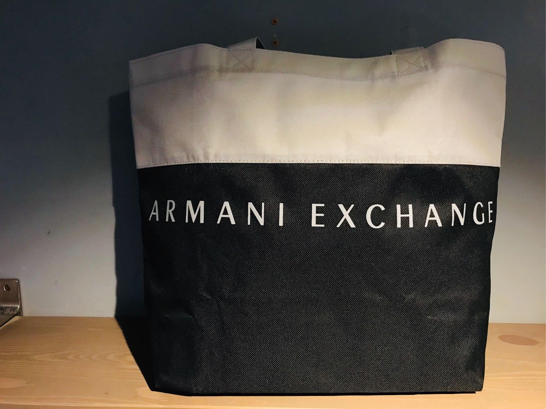 ARMANI EXCHANGE帆布購物包