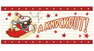 【日本 正版 景品】日版 茶杯頭 大冒險 CUPHEAD A knockout 古典 卡通 毛巾 浴巾