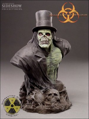 全新 Sideshow 6.5吋 Quarantine Studio Zombie Hyde 殭屍胸像