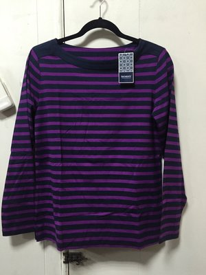 購Happy~歐美品牌 SEG'MENTS 女款條紋長袖上衣 紫/S