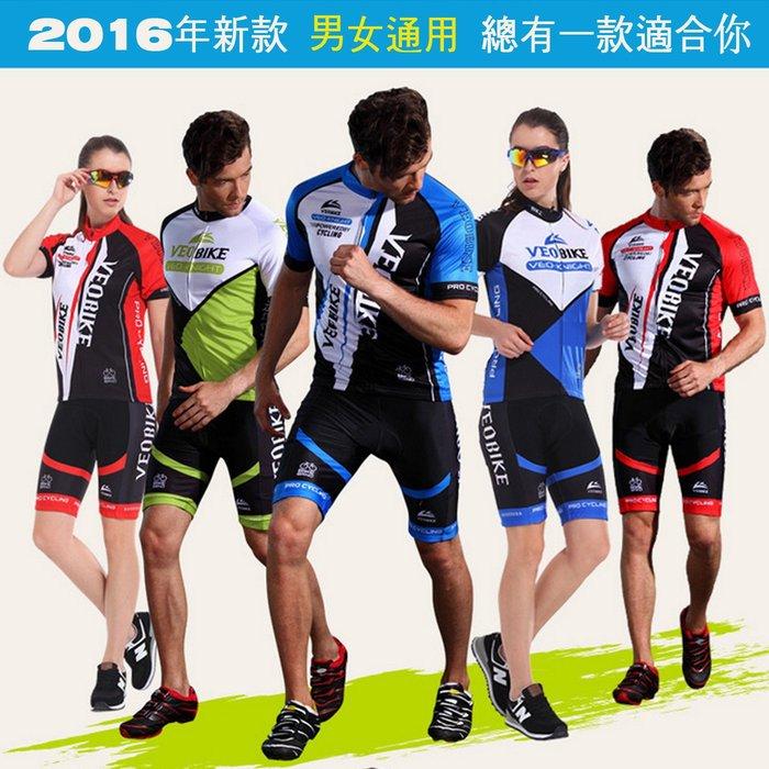 【綠色運動】2016年 男女款  自行車衣  單車衣  吸濕排汗 萊卡透氣 車衣車褲短套裝 工廠品牌推廣 超優惠活動中