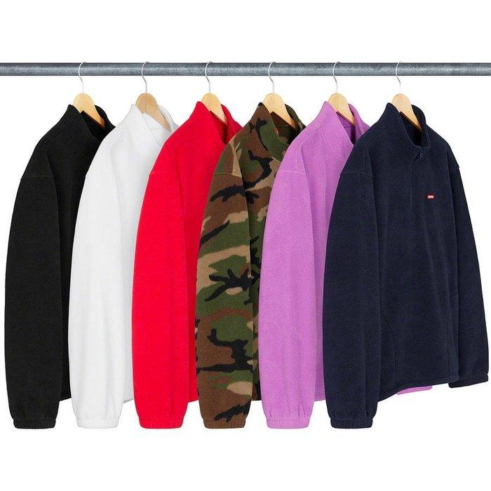 【美國鞋校】預購 SUPREME FW19 Polartec Half Zip Pullover 羊毛 辦拉鍊 套頭衫