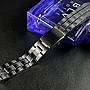 艾曼達精品~22mm黑色真空離子電鍍sea master 海馬風格不鏽鋼製錶帶