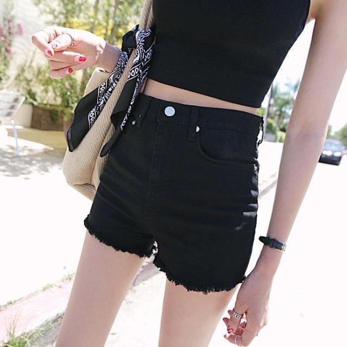 YEAHSHOP 短褲 夏季韓版黑色牛仔短褲女高Y185