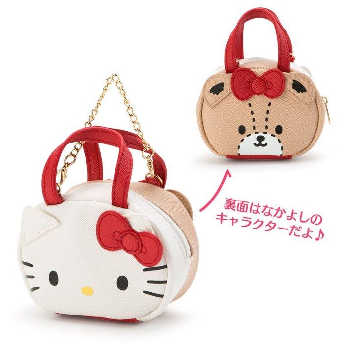 41+ 現貨不必等 Y拍最低價 日本正版  KITTY 美樂蒂 雙子星 雙面 迷你波士頓 造型包 零錢包 吊飾 小日尼三