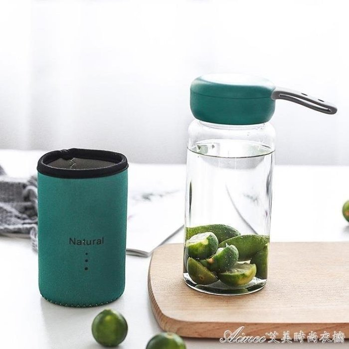 哆啦本鋪 杯子男學生韓版水杯創意潮流玻璃杯便攜隨行耐熱口杯喝水有蓋簡約D655