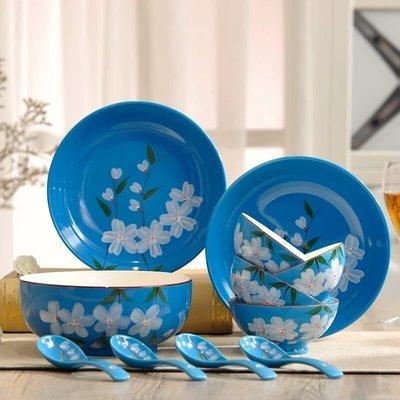 粉紅玫瑰精品屋~日式彩色碗碟套裝 創意...