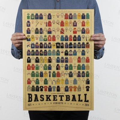 【貼貼屋】球衣大全 NBA Kobe 咖哩 勇士 騎士 湖人 牛皮紙 海報 壁貼 店面裝飾  1006