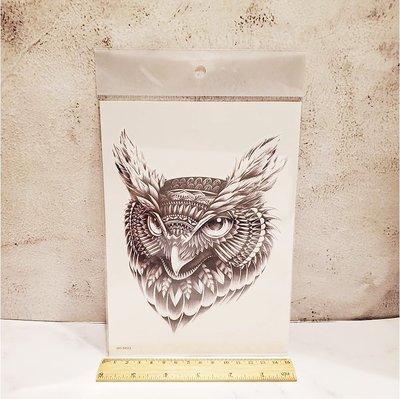 【萌古屋】貓頭鷹手臂大圖 - 男女防水紋身貼紙刺青貼紙WS-B623 K29