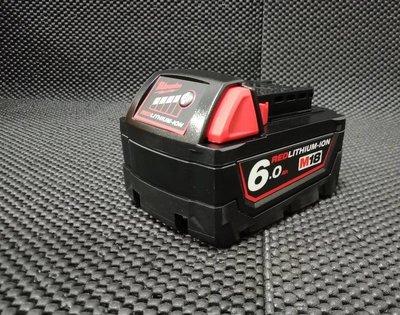 全新 Milwaukee 米沃奇 18V M18 6.0Ah 原廠電池 容量顯示 另售米沃奇充電器