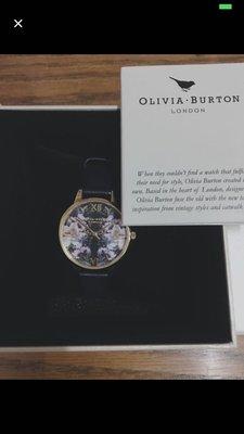 Olivia Burton[Winter Garden Black &Gold]花卉手錶