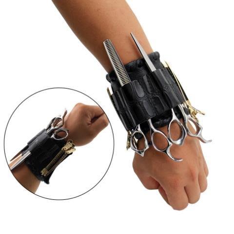 新款魔術貼潮流發型師手腕包理發師剪刀包工具包美發工具