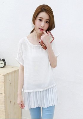 品名: 甜美波點百搭圓領連衣裙(白色) J-11488