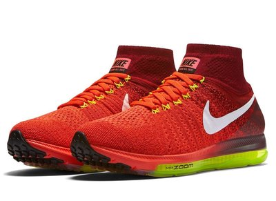 =CodE= NIKE W AIR ZOOM ALL OUT FLYKNIT 編織慢跑鞋(紅白)845361-616.女