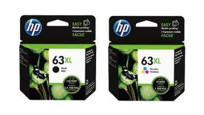 西依歐:HP NO.63XL 原廠墨水匣1黑1彩(含稅)(請先詢問庫存)