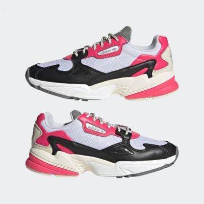 =E.P=ADIDAS ORIGINALS FALCON 黑白粉 休閒 復古 老爹鞋 女鞋 EG9926