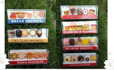 彰化二手貨中心(原線東路二手貨)--強力磁鐵 食物造型磁鐵 麵包磁鐵 巧克力磁鐵 披薩磁鐵 漢堡磁鐵 蛋糕磁鐵 可樂