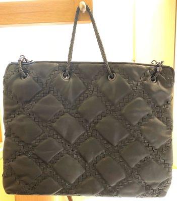 BOTTEGA VENETA (BV) 小羊皮編織手提包/購物袋