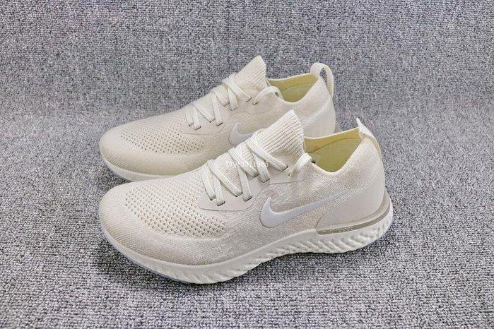 Nike Epic React Flyknit  米黃 百搭 編織 休閒運動慢跑鞋 女鞋 AQ0070-201