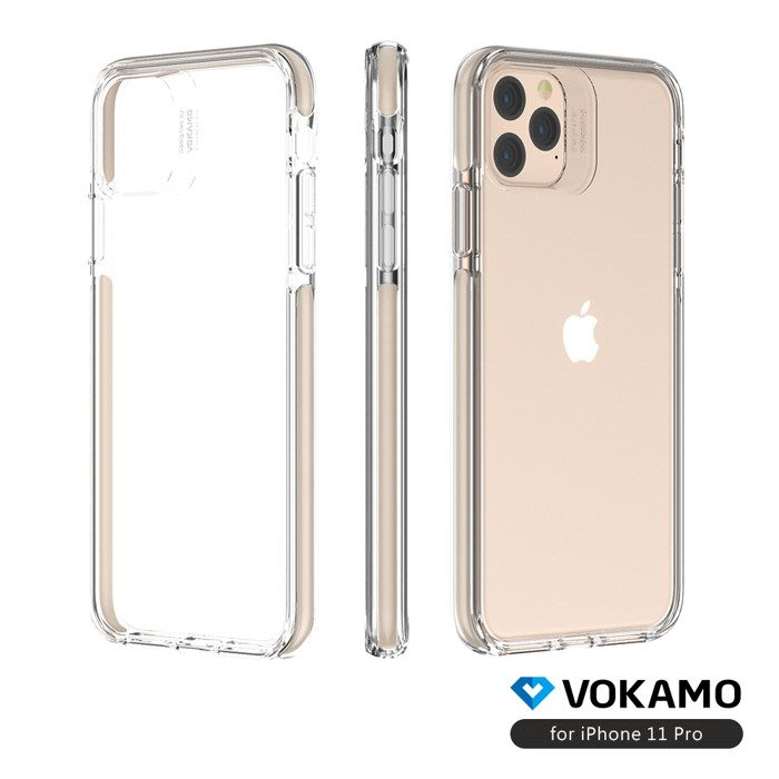 "VOKAMO Smult for iPhone 11 PRO( 5.8"")晶透防摔保護殼-黑/粉/白/金"